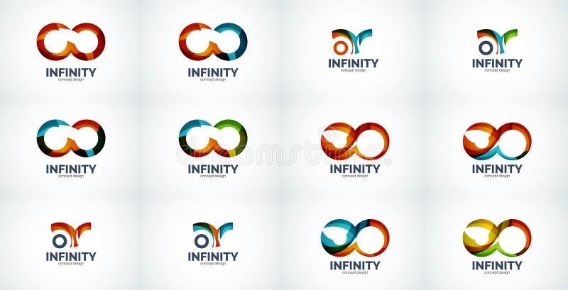 Infinity company logo icon set vector illustration