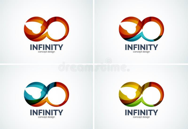 Infinity company logo icon set royalty free illustration