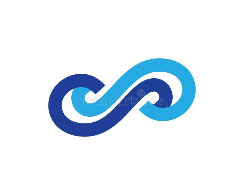 Infinity Design Vector. Icon illustration Logo template design motion concept unusual illusion program loop mark business line symbol dynamic element limitless royalty free illustration