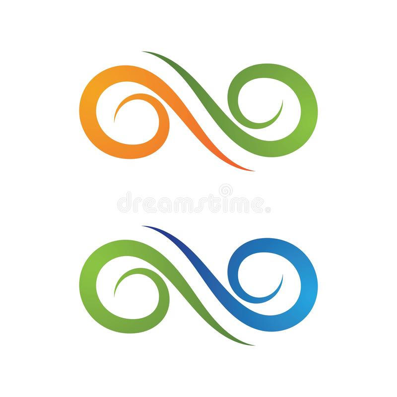 Infinity Design Vector. Icon illustration Logo template design motion concept unusual illusion program loop mark business line symbol dynamic element limitless stock illustration