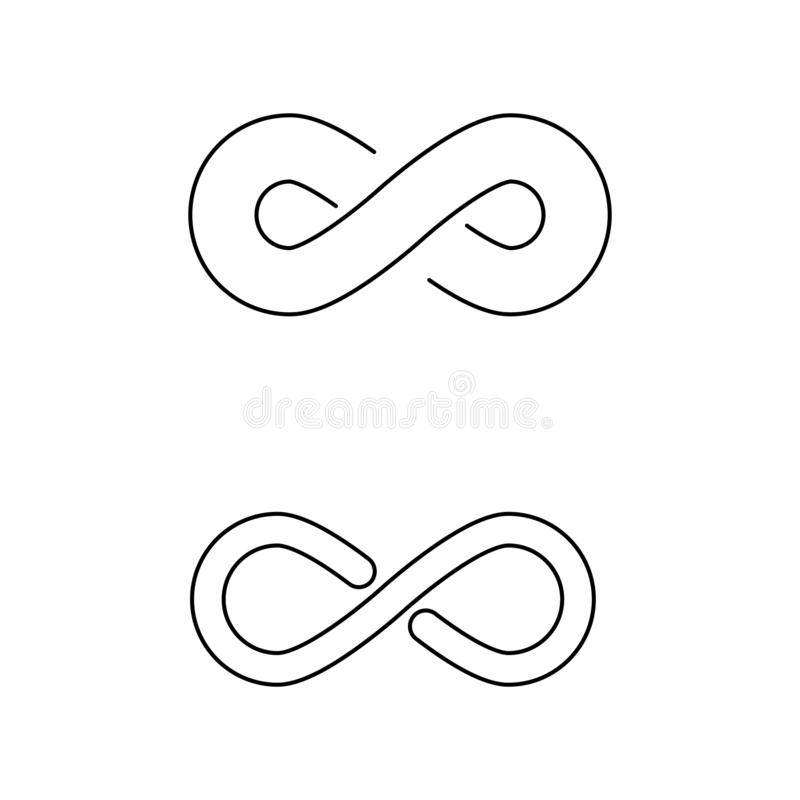 Infinity Design Vector. Icon illustration Logo template design motion concept unusual illusion program loop mark business line symbol dynamic element limitless vector illustration