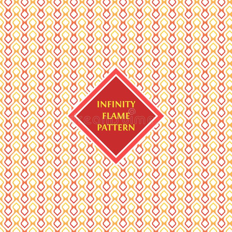 infinity Flame Pattern background and texture stock illustration