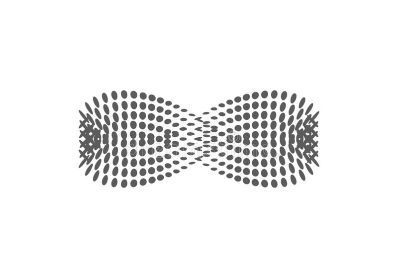 Infinity halftone vector icon. Illustration style is dotted iconic Infinity icon symbol on a white background. Halftone royalty free illustration