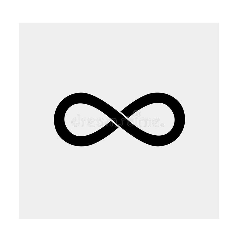 Infinity icon. Black background. Vector illustration. vector illustration