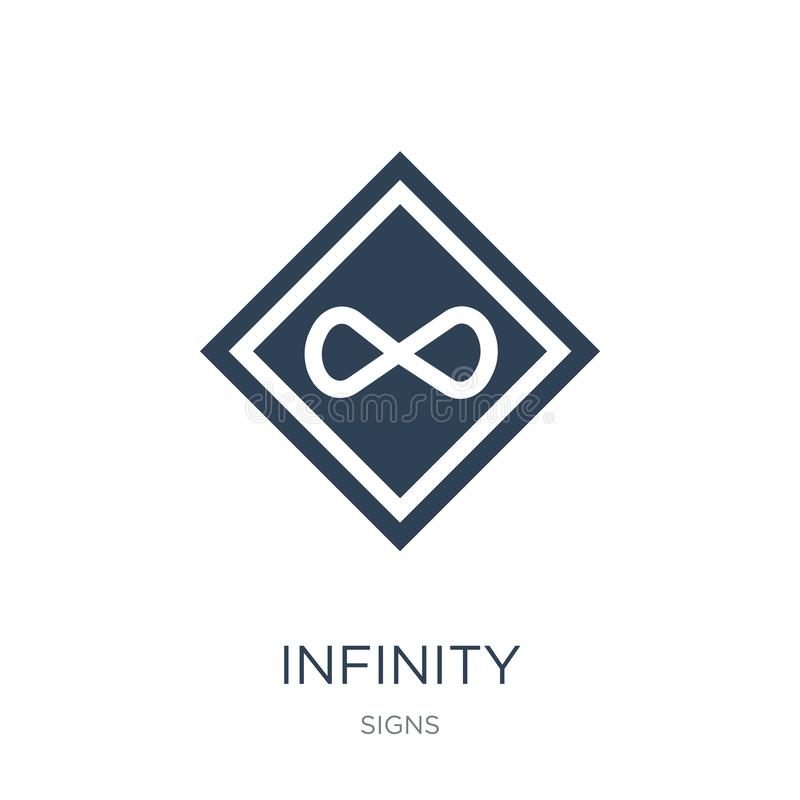infinity icon in trendy design style. infinity icon isolated on white background. infinity vector icon simple and modern flat royalty free illustration