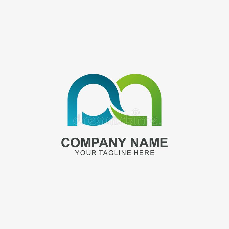 Infinity letter P & A logo icon, Initial Logo used for your Company royalty free illustration