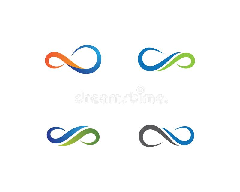 Infinity logo template vector icon royalty free illustration