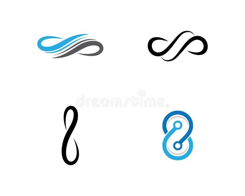 Infinity logo template vector icon illustration. Design, motion, concept, unusual, mathematical, illusion, program, loop, mark, business, line, symbol, dynamic stock illustration
