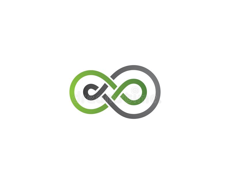 Infinity logo Vector. Template royalty free illustration