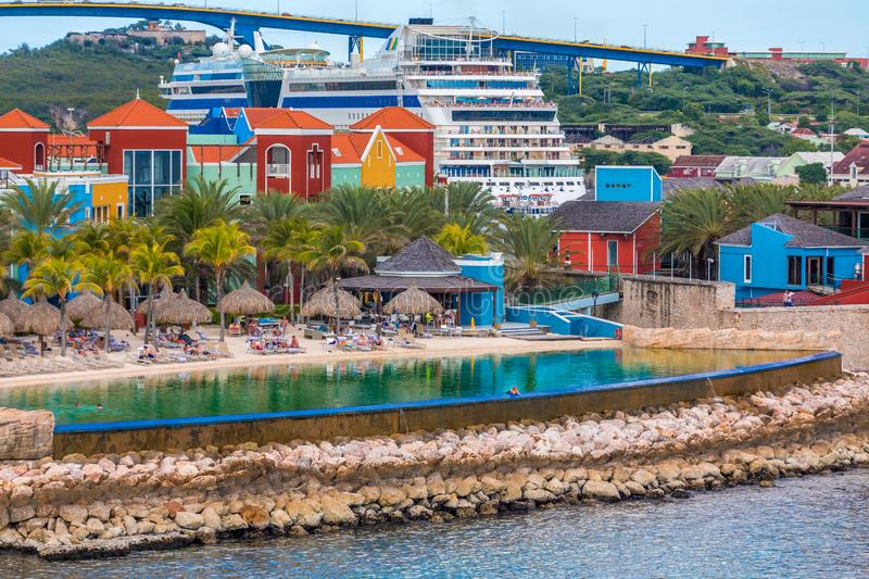 Infinity Pool at Curacao Resort stock images