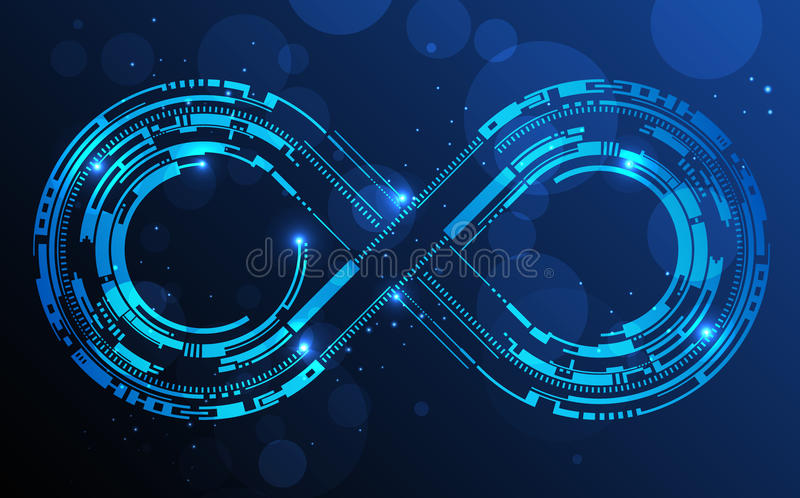 Infinity sign royalty free illustration