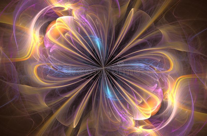 Infinity sign, computer generated fractal. Background. Fantastic swirl. Abstract pattern. Fantasy digital art. 3D rendering, color, wave, light, motion, curl vector illustration