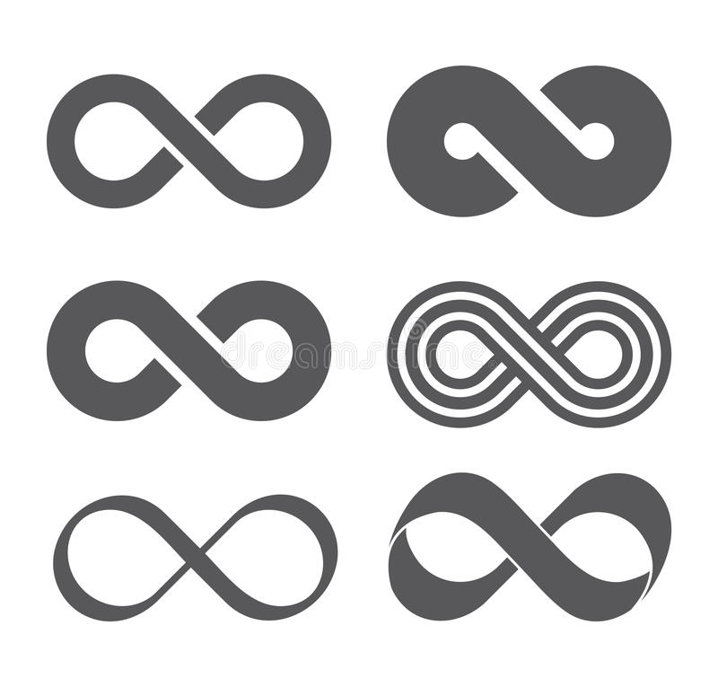Infinity sign. Mobius strip vector illustration