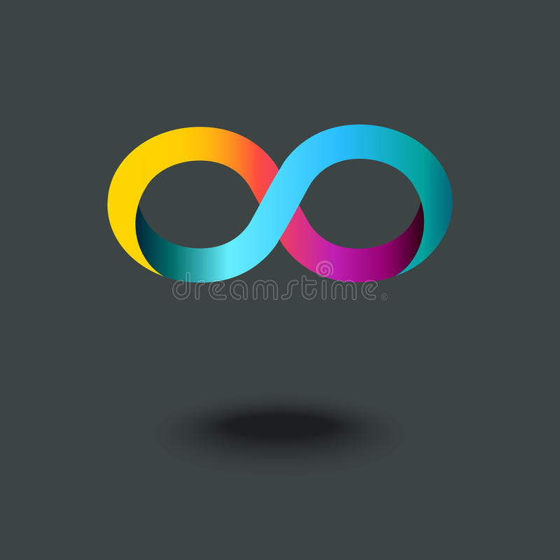Infinity sign. Mobius strip. Gradient abstract modern colorful logo, icon. Vector illustration vector illustration