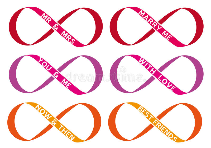 Infinity Sign Vector Set Stock Vector Illustration Of Pink 32179744