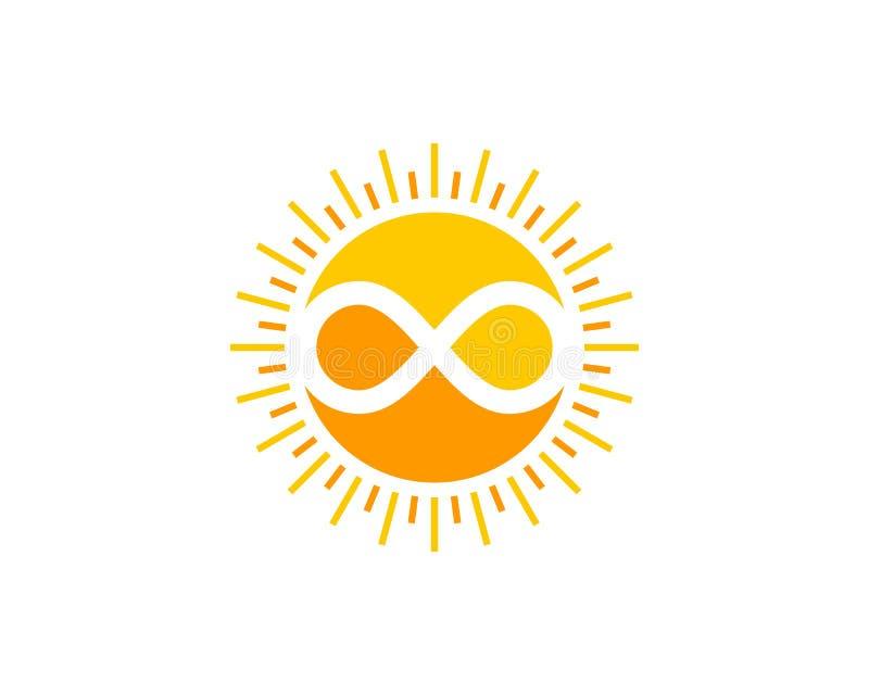 Infinity Sun Icon Logo Design Element vector illustration