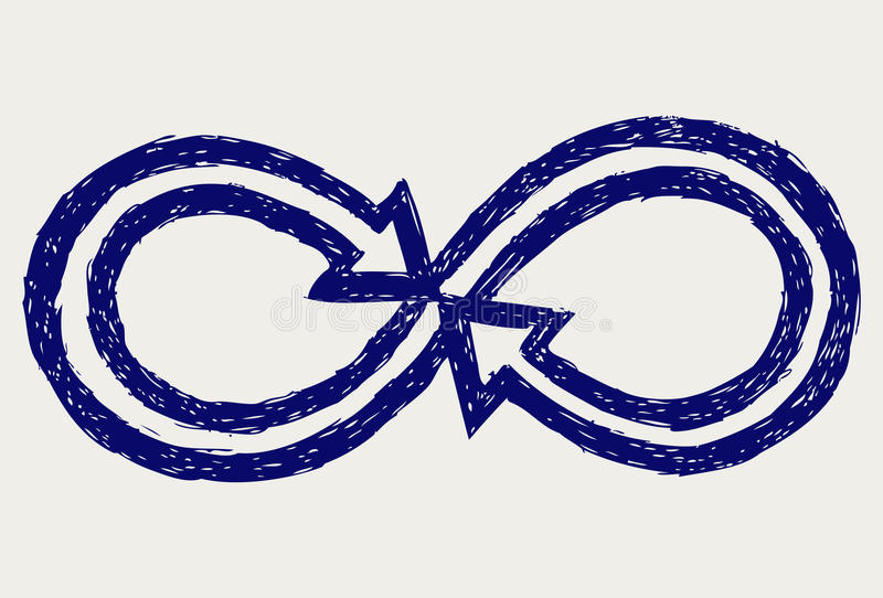 Infinity symbol royalty free illustration