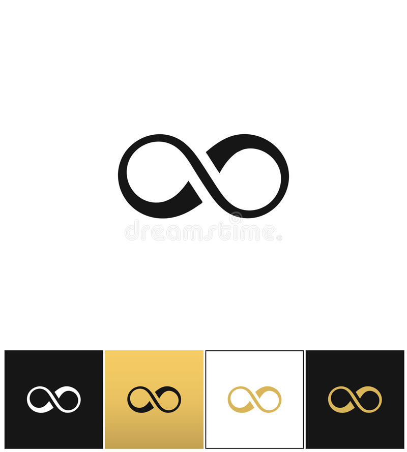 Infinity symbol or cycle eternity vector icon royalty free illustration