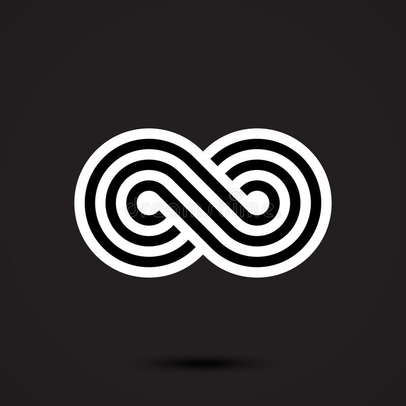 Infinity symbol icon. Vector illustration stock illustration