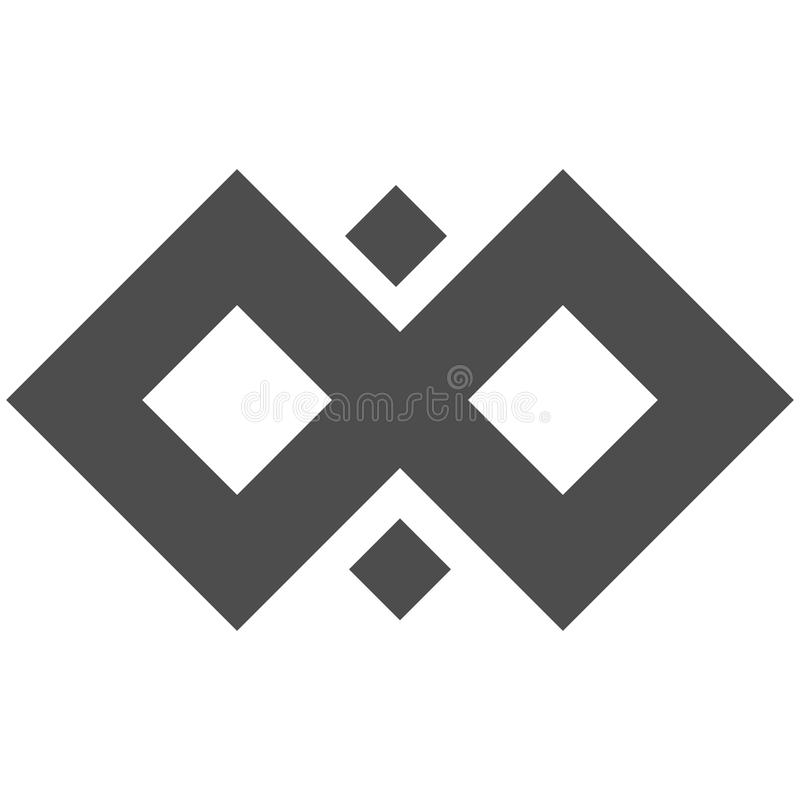 Infinity symbol loop. Figure 8 icon, eternity logo sign in original design, forever eternity knot, number 8 inverted in royalty free illustration