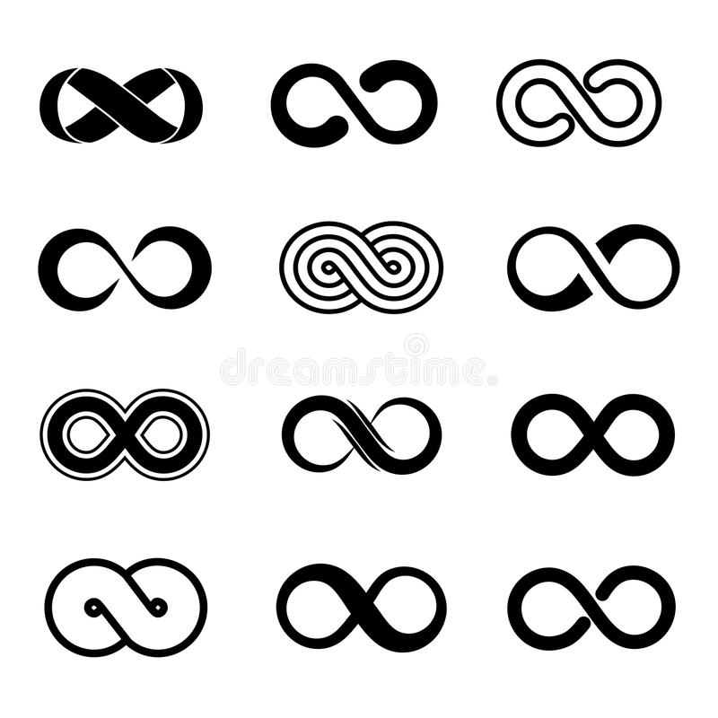 Free Infinity Symbol Vector Set Stock Images - 71223494