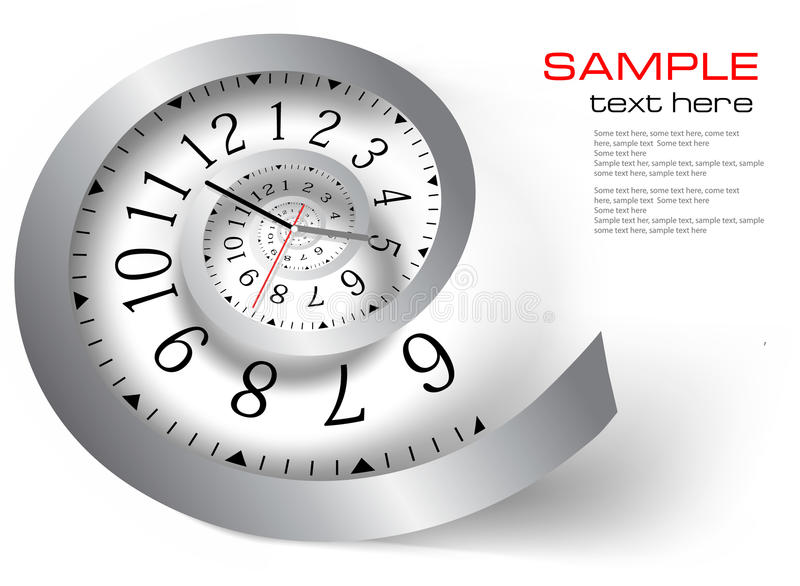Infinity time. Vector illustration. Infinity time Silver clock. Vector illustration vector illustration
