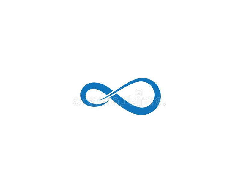 Infinity vector icon royalty free illustration