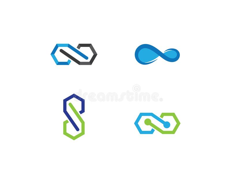 Infinity vector icon stock illustration