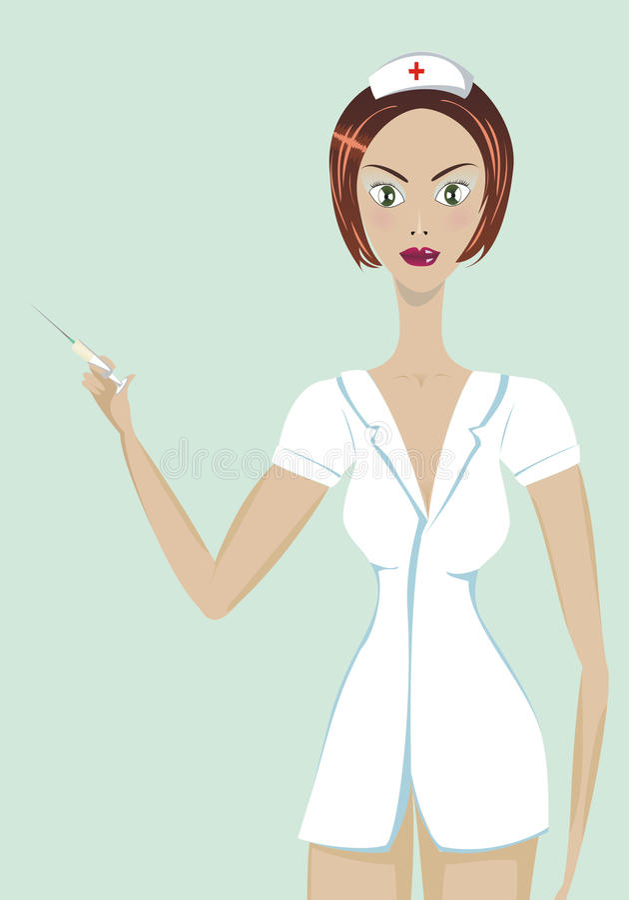 Infirmière illustration libre de droits