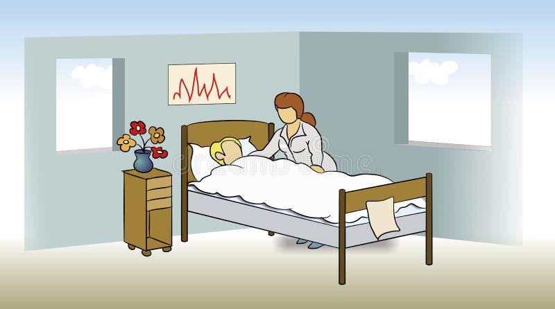 infirmière d'hôpital illustration de vecteur