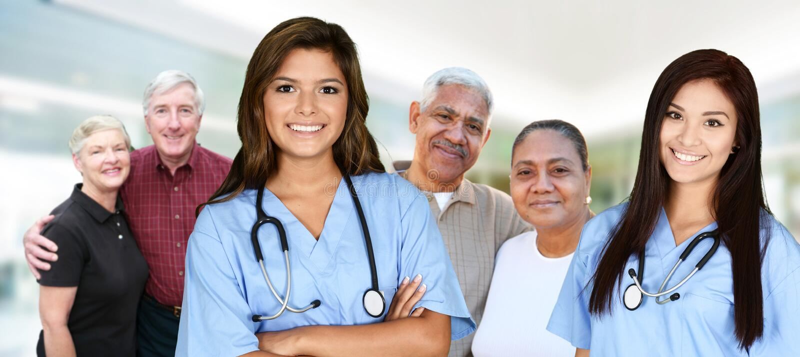 Infirmière dans l'hôpital photographie stock libre de droits