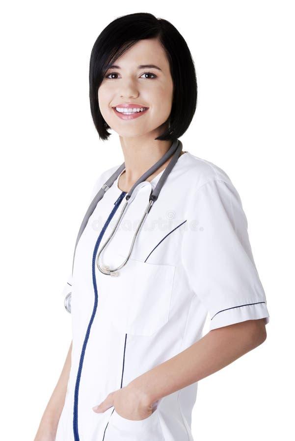 Infirmière de jeunes ou docteur de femelle photo libre de droits