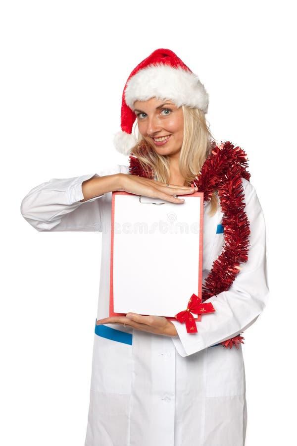 Infirmière de Noël photographie stock libre de droits