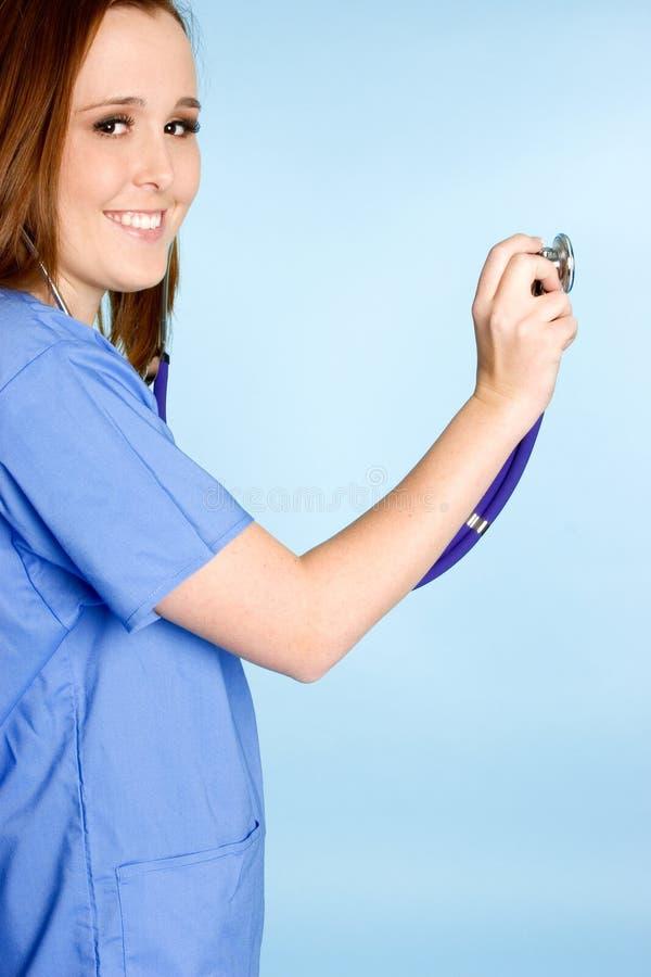 Infirmière de stéthoscope images libres de droits