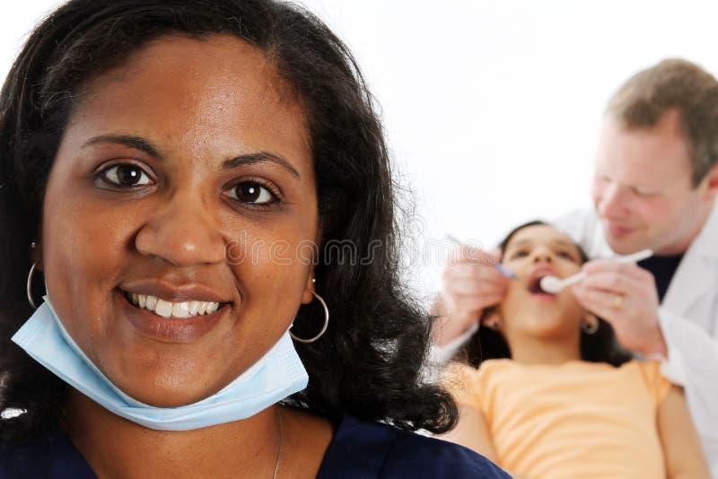 Infirmière et dentiste photographie stock libre de droits