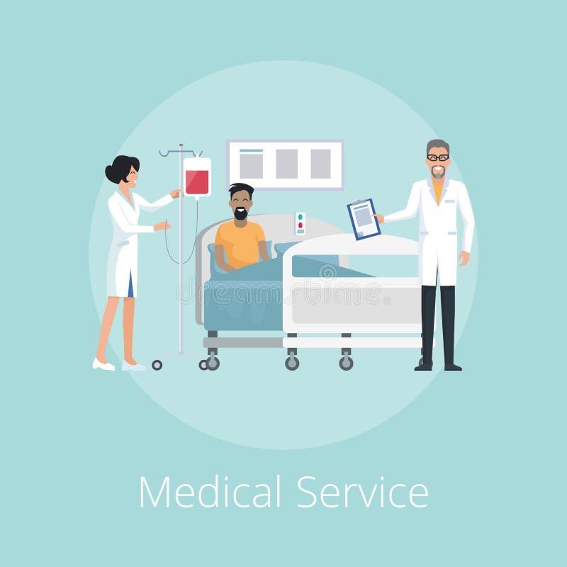 Infirmière et Doc. Vector Illustration de service médical illustration stock