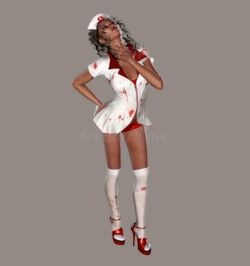 Infirmière fantasmagorique illustration de vecteur