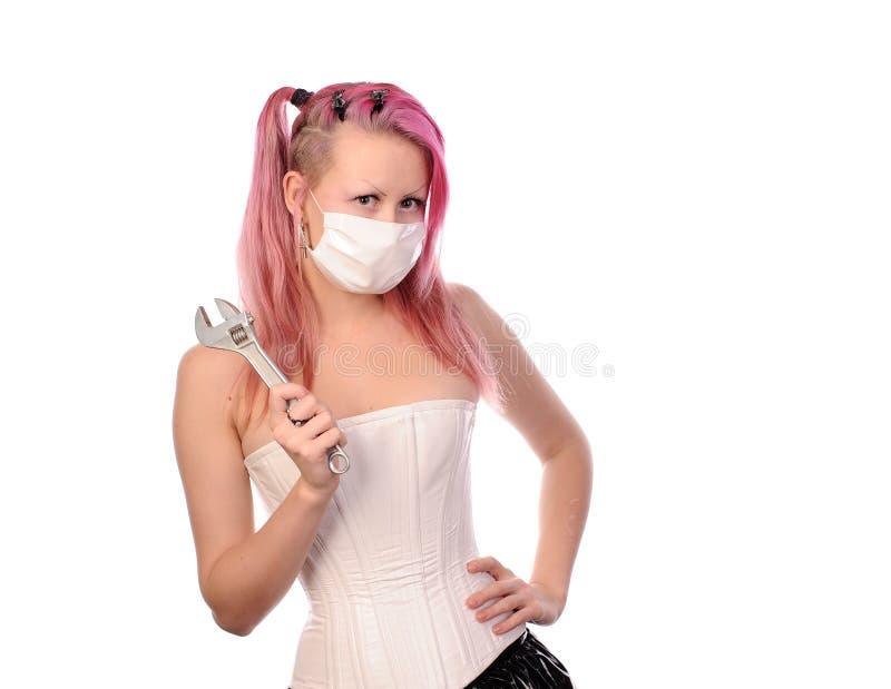 Infirmière folle photos libres de droits