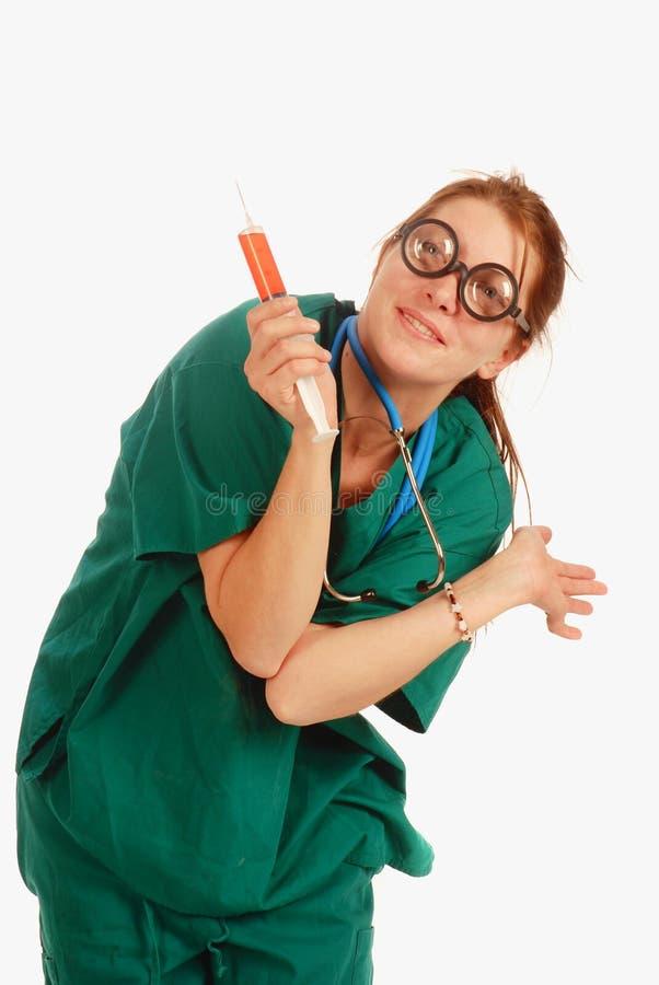 Infirmière folle photos stock
