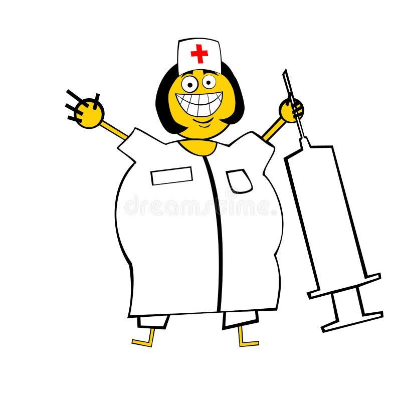 infirmière heureuse illustration libre de droits