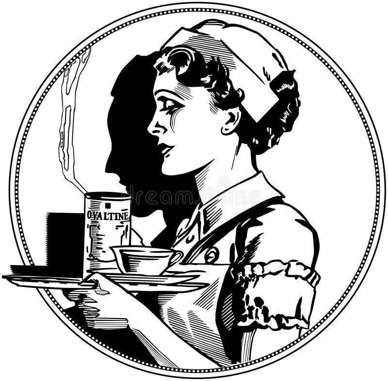 Infirmière Icon illustration de vecteur