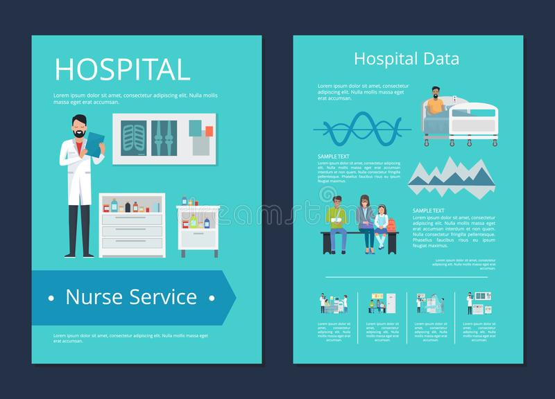 Infirmière Service Vector Illustration de données d'hôpital illustration stock