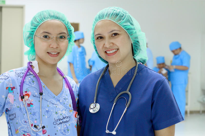 Infirmières asiatiques photos stock