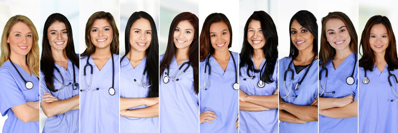 Infirmières dans l'hôpital photographie stock