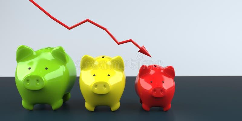 Inflacji prosi?tka banki ilustracja wektor