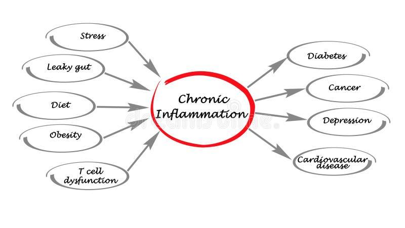 Inflammation chronique illustration libre de droits