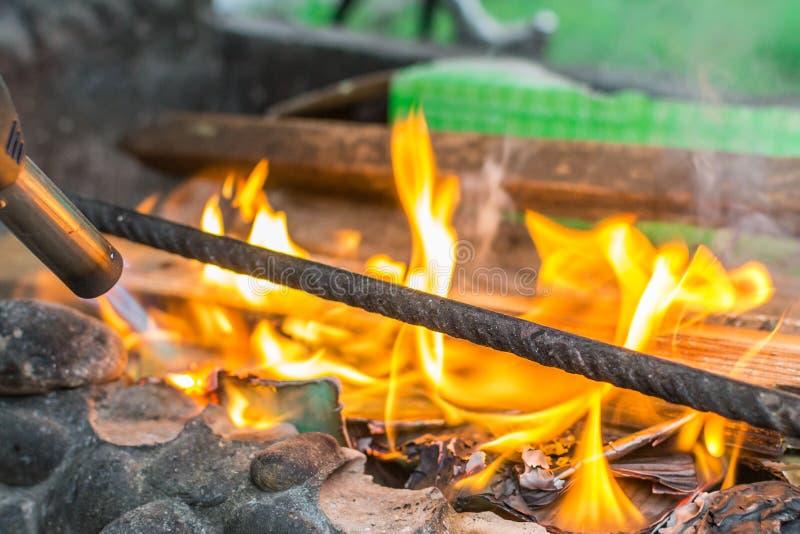 Inflammation du feu photos stock