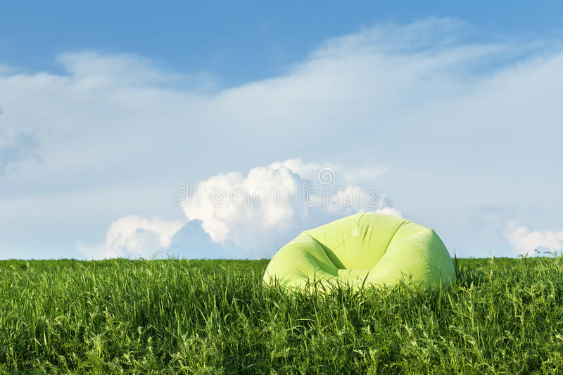 Download Inflatable Armchair Outdoors In The Grass Stock Image - Image: 24654751