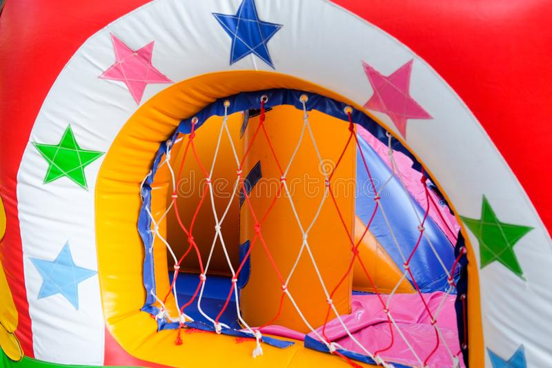 Inflatable attraction playground royalty free stock image