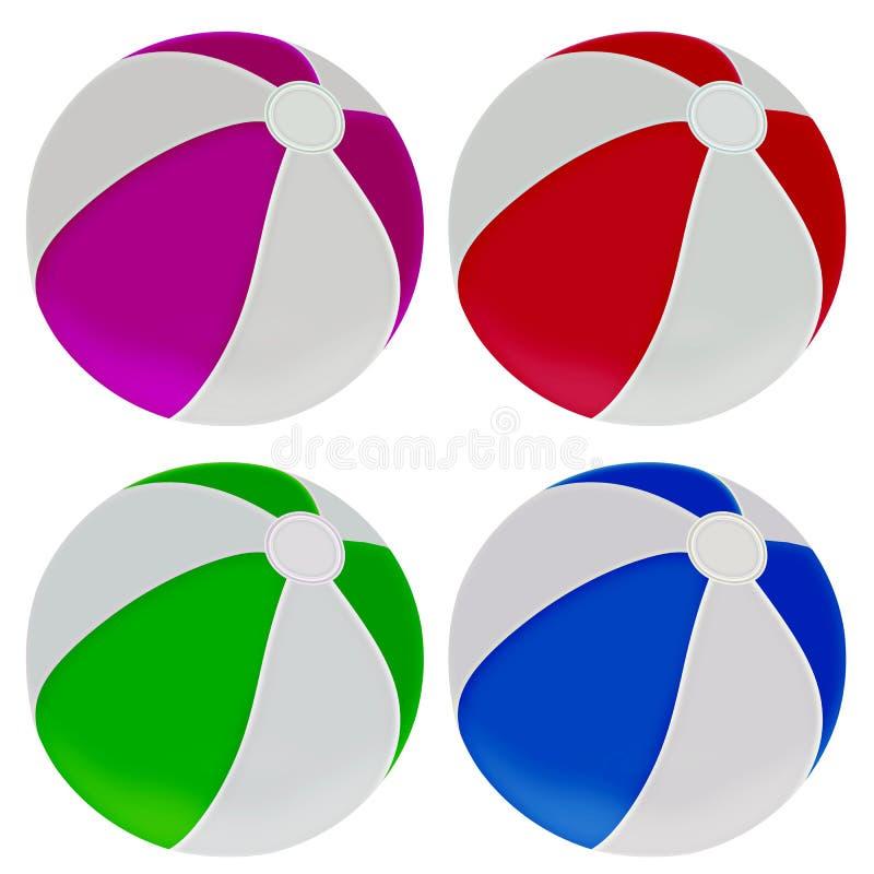 Download Illustration Of Colorful Beach Balls Stock Illustration - Image: 29803248
